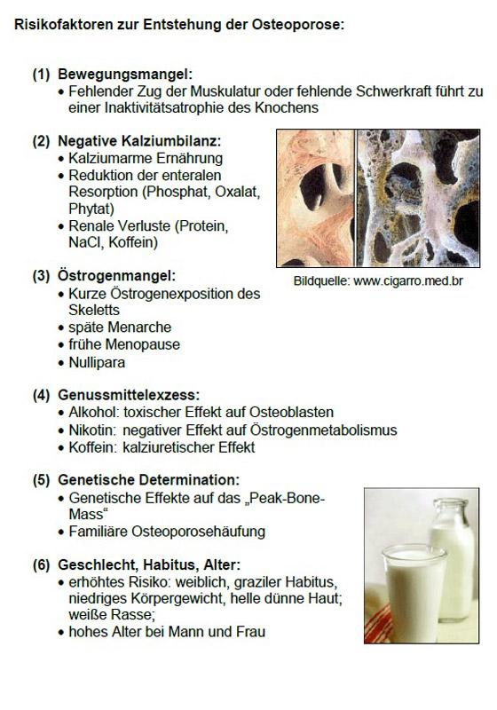 risiko osteoporose frühes klimakterium
